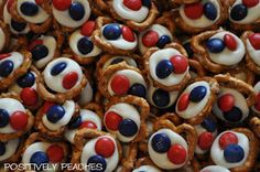 Positively Peaches: Pizza Bites and 4th of July Treats