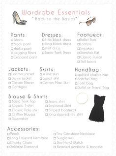 Wardrobe Essentials Checklist
