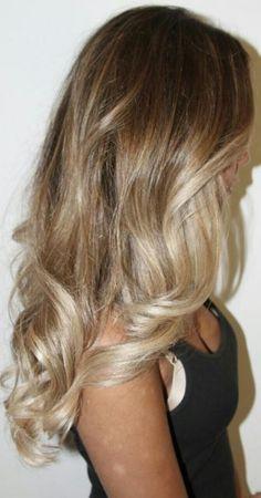 blonde ombré @Madalyn Guelker