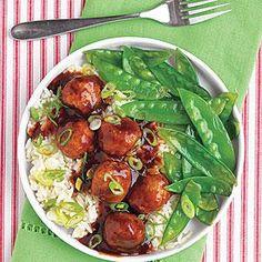 Tangy Asian Meatballs   MyRecipes.com