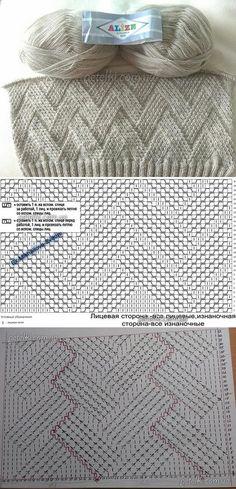 Baby Knitting Patterns Techniques Pattern by Elena Volkova. Crochet Stitches Patterns, Knitting Charts, Baby Knitting Patterns, Lace Knitting, Knitting Designs, Stitch Patterns, Crochet Lace Edging, Crochet Baby, Knitted Blankets