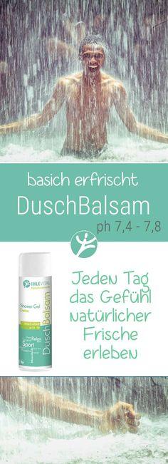 DuschBalsam kombiniert ein cremiges Gefühl intensiver, revitalisierender Frische und basischer Pflege mit beruhigenden und feuchtigkeitsspendenden Pflanzenextrakten.  Wohltuende Entspannung auch nach körperlicher Aktivität und Sport.