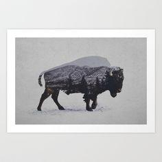 The+American+Bison+Art+Print+by+Davies+Babies+-+$19.99 dig it. So western.