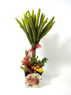 Dried Floral Arrangement Fall Floral Decor by summersweetboutique, $42.00