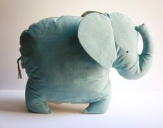 A soft and cuddly baby plush elephant with a surprise burst of of beautiful print fabric on its belly and ears. Baby Elefant, Elephant Love, Homemade Toys, Baby Time, Sewing For Kids, Softies, Cute Baby Animals, Doll Toys, Cute Babies