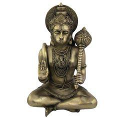 Hindu God Monkey Hanuman Brass Metal Sculpture Statue   ShalinIndia - Art on ArtFire