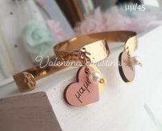 Χειροποίητα μαρτυρικά για την μαμά ,μπαμπά.νονά,νονό - valentina-christina.gr Kai, Place Cards, Place Card Holders, Letters, Drop Earrings, Gifts, Jewelry, Gift Ideas, Presents