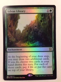 Magic the Gathering: Foil Sylvan LIbrary from the set Eternal Masters NM/M #WizardsoftheCoast #mtg