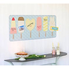 Ice Lolly Weekly Planner Magnetic/Dry Wipe Board