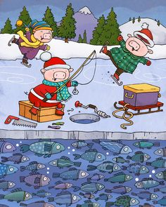 Frozen Fishing  by Patrick Girouard