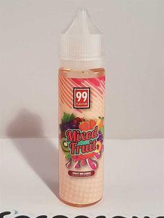 Mixed fruit De la marque 99 FLAVOR Un mélange encore une fois réussi pour la marque. Comme son nom l'indique c'est un mélange de plusieurs fruité mixé ensemble !   Fiole de 60 ml remplis a 50 ml pour ajout de nicotine.