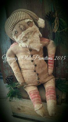 Primitive Santa Doll Winter Christmas #NaivePrimitive