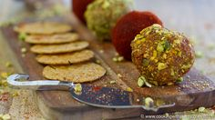 These Pistachio and Smoked Paprika Vegan Cheese Balls look great, taste great and are fast to make! Served large or small they make a great party snack or side dish. Perfect for the holiday Season... dig in!Pistachio & Smoked Paprika Vegan Cheese Balls - These Pistachio and Smoked Paprika Vegan Cheese Balls look great, taste great