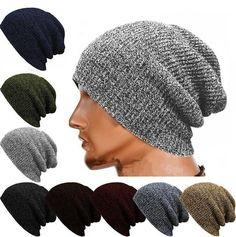 2f2eda55cea5d Winter Casual Cotton Knit Cap Baggy Beanie Crochet Cap Outdoor Ski Cap  Bennies Hats