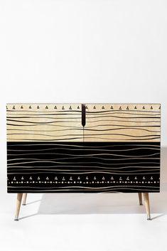 Viviana Gonzalez Black and white collection 01 Credenza | DENY Designs Home Accessories
