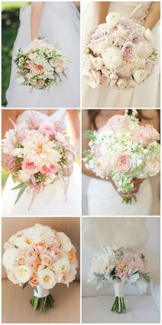 beautiful blush wedding bouquets