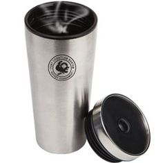 double wall tumbler Stainless steel outer with plastic liner Non-spill twist on lid push open/close button Available in: Silver and Matte Black Holiday Drinkware, Matte Black, Travel Mug, Mugs, Tableware, Tumbler, Silver, Stainless Steel, Plastic