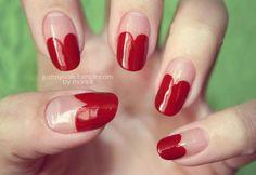justmynails:   Heart nails <3 <3