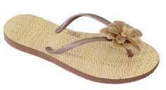 Modelo La Belle caramelo #flipflops #print #design #brazilian #stylish #summer #beach #flower