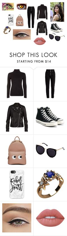 """""""Dakota Swan"""" by elle-storey on Polyvore featuring Blue Vanilla, Balenciaga, SET, Converse, Anya Hindmarch, Casetify and Lime Crime"""