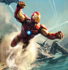 "335 Likes, 7 Comments - Aleksi Briclot (@aleksibriclot) on Instagram: ""Invincible #ironman #marvel"""