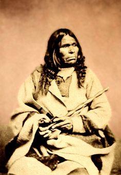 Stump (Kish-ka-na-cut) a Chippewa chief. Photographed at St Paul, USA, mid 1800s.