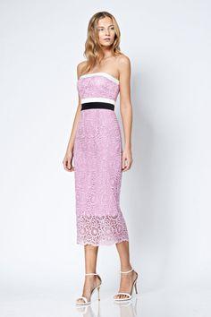 5de54897aa1 Cynthia Rowley lace strapless dress available at mirellas.ca