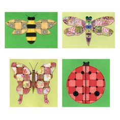Pretty Things That Fly Paper Quilt Greeting Cards Pattern