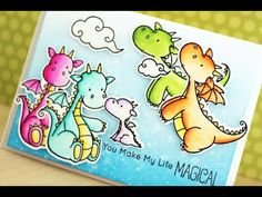 Card #52 - You Make My Life Magical (MFT Dragons + Zig Clean Color) - YouTube