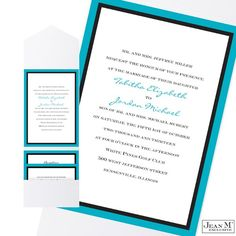 Jean M Invitations & Stationery Wedding Invitations Photos on WeddingWire. Just have purple instead of blue