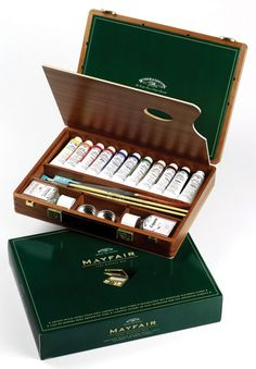 Winsor and Newton : Artists Oil : Mayfair Wooden Box
