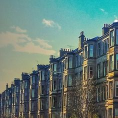 Classic Edinburgh tenements at dusk. #Victorian #Edinburgh #architecture by chiara.alagia