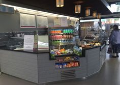 Squires Garden Centre, Long Ditton. Ifse D&B: New Servery Counter comprising refrigerated multideck display, retail sections, patisserie display and ambient/cashier section to end