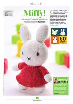 Let's Knit, issue 99, November 2015. On sale 30th October. It's our November issue, and we're getting decked out in knitted style for the chilly weather ahead! We've got 36 seasonal patterns lined up for you, including Miffy and Christmas baubles designed by Arne & Carlos. We've got your Christmas knitting sorted with our bonus supplement Christmas Quick Knits, and read our interview with the Scandinavian knitting duo!