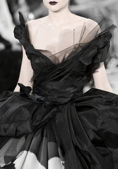 Christian Dior - dark lips and swaths of fabric.