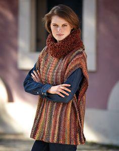 Book Woman Sport 83 Autumn / Winter | 43: Woman Poncho | Brown-Multicolour / Rust