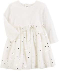 c260575a93 Baby Girl Carter s Foiled Dot Tulle Dress