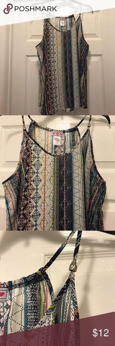 Bohemian style sheer tank top size L Sheer and bohemian pattern size L. Never worn. Tops Tank Tops