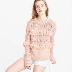 We just love this  fringe sweater. It's so cute!