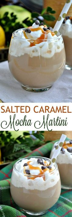 Cocktails So Indulgent You Have to Try Them This salted caramel mocha martini is sure to give you a great if you are needing a coffee fix!This salted caramel mocha martini is sure to give you a great if you are needing a coffee fix! After Dinner Cocktails, Cocktail Desserts, Dessert Drinks, Cocktail Drinks, Cocktail Recipes, Non Alcoholic Drinks, Beverages, Painkiller Cocktail, Christmas Cocktails