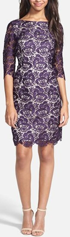 embroidered lace #purple sheath dress http://rstyle.me/n/ik2zdr9te