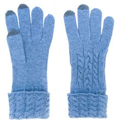 N.Peal Cable Knit Gloves (13,835 INR) ❤ liked on Polyvore featuring accessories, gloves, cable gloves, cable knit gloves and cashmere gloves