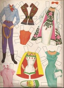 I think I had this paper doll set as a little girl... BB 1962 Barbie clothes III