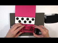 Simply Simple FLASH CARD 2.0 - Polka Dotted 'Smile' Card by Connie Stewart