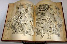 Alice in Wonderland altered book antique by Raidersofthelostart