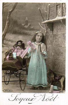 Vintage Postcard ~ Joyeux Noel by chicks57, via Flickr