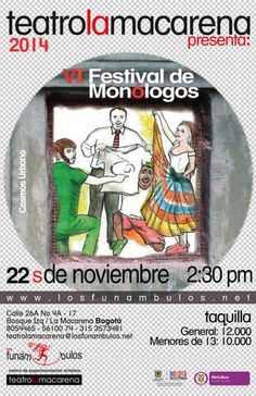 IV Festival de Monólogos- Grupo de teatro callejero Cosmos Urbano