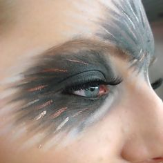 Bird makeup. If you are using makeup to hint towards being something else, keeping it simple usually has more impact.