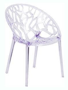 Specter Series Transparent Stacking Side Chair - Flash Furniture a beautiful and artistic statement with this transparent accent chair. With its intricate cut-out design and modern shape, you'll fall in love with this chair. Room Chairs, Side Chairs, Deck Chairs, Office Chairs, Ghost Chairs, Papasan Chair, Chiavari Chairs, Contemporary Dining Chairs, Stackable Chairs