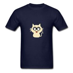 The Little Cat Navy Men's T-Shirt | SnapMade.com ($23) ❤ liked on Polyvore featuring men's fashion, men's clothing, men's shirts, men's t-shirts, mens long sleeve t shirts, mens t shirts, mens cat shirt, old navy mens t shirts and mens navy blue shirt